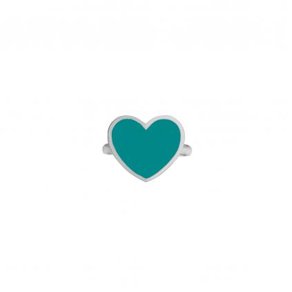 Кольцо серебряное Сердце с эмалью Youko тиффани