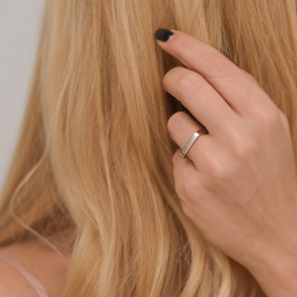 Кольцо серебряное Квадрат Youko