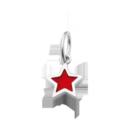Кулон серебряный Звезда с эмалью Youko красная конструктор