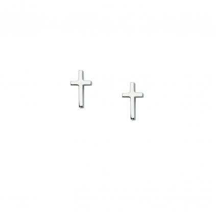 Серьги серебряные Крестики Youko пусеты