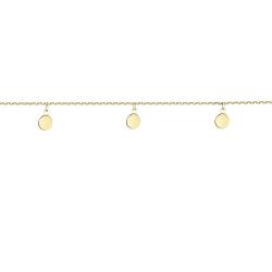 Браслет серебряный 5 Монеток подвесные 5 мм Youko желтая позолота