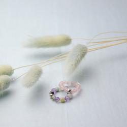 Кольцо Камни Розовые Кварц со Сферой Youko
