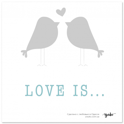 Открытка Большая Love Is Youko