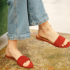 Браслет серебряный на ногу (анклет) Перчики подвесные Красные Youko