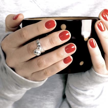 """Серебряное кольцо две сферы 10-12 мм """"Поворот судьбы"""""""