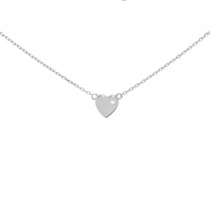 Подвеска серебряная Сердце с цирконом Youko