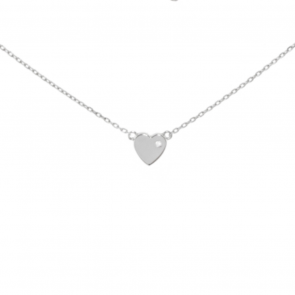 """Серебряная подвеска сердце с цирконом """"Love is..."""""""