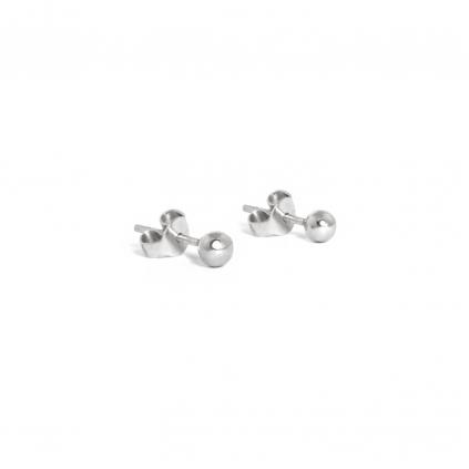 Серьги серебряные Зернышки 4 мм Youko