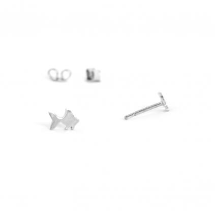 Серьги серебряные Рыбка Youko