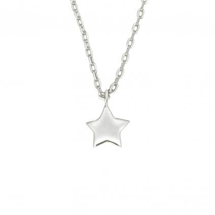 Серебряная подвеска звездочка