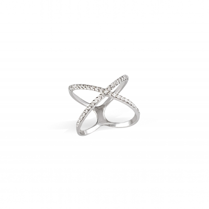 Кольцо Икс с камнями коллекция Love is...