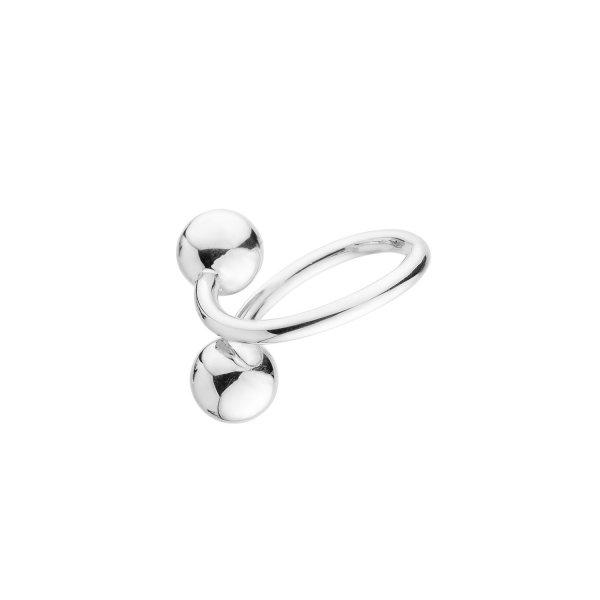 Кольцо серебряное Две Сферы Танго Youko