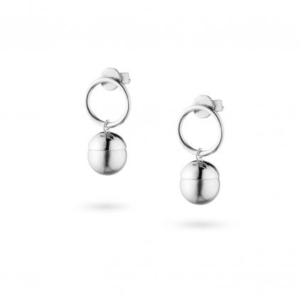 Серьги серебряные Жемчужины серые Youko