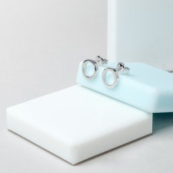 Серьги серебряные Геометрия Круг 7 мм Youko