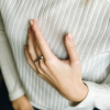 Кольцо серебряное Штанга Youko с камнями