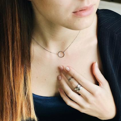 Кольцо серебряное Двойное гладкое Составное Youko
