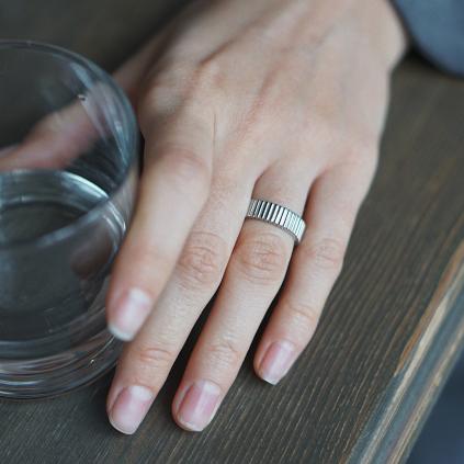 Кольцо серебряное Грани Youko
