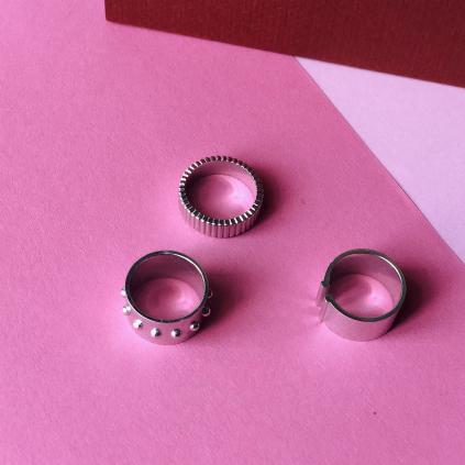 Кольцо серебярное Два Бруска Youko