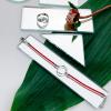 Браслет серебряный Круг Равновесие Youko шнур красного цвета