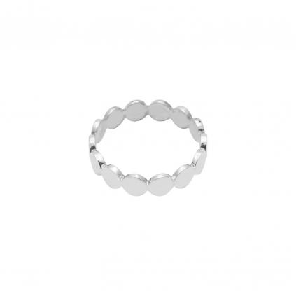 Кольцо серебряное Монетки тонкое Youko
