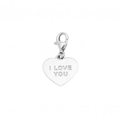 Шарм серебряный Сердце I love you Youko