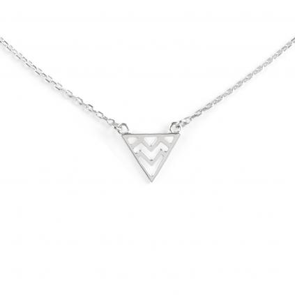 Подвеска серебряная Треугольная Волна Youko