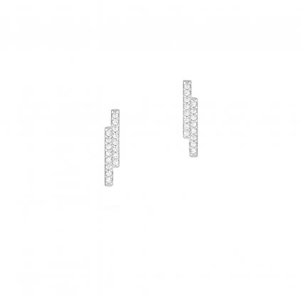 Серьги серебряные Брусочки Сияющие Youko
