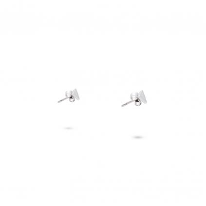 Серьги серебряные Треугольник Youko пусеты
