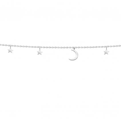Браслет серебряный Луна со звездами Youko