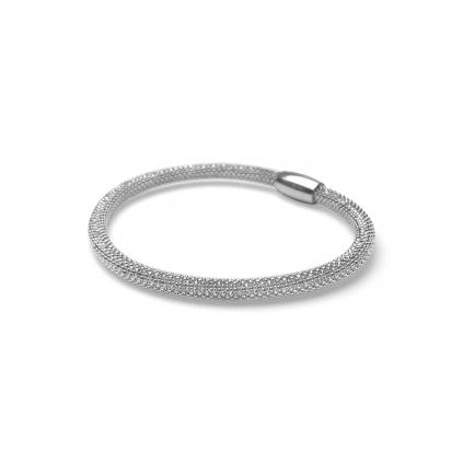 Браслет серебряный Змейка на магнитах Большой Youko