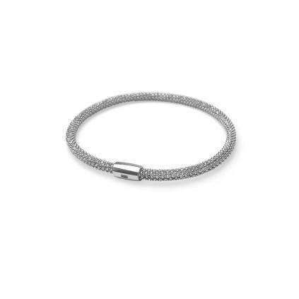 Браслет серебряный Змейка на магнитах Маленький Youko