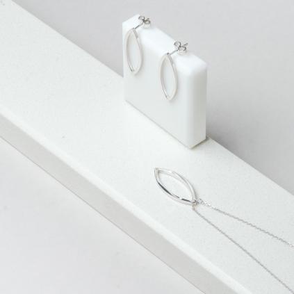 Подвеска серебряная Листик контур Youko
