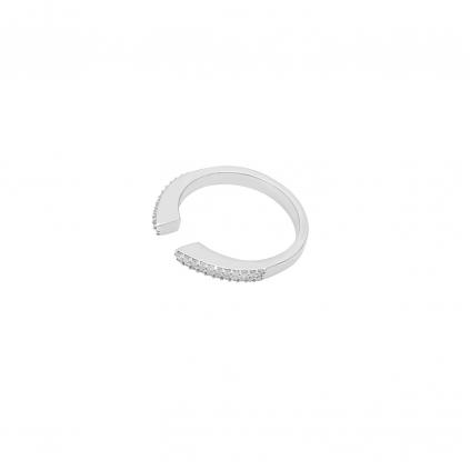 Кольцо серебряное Геометрия с камнями Youko