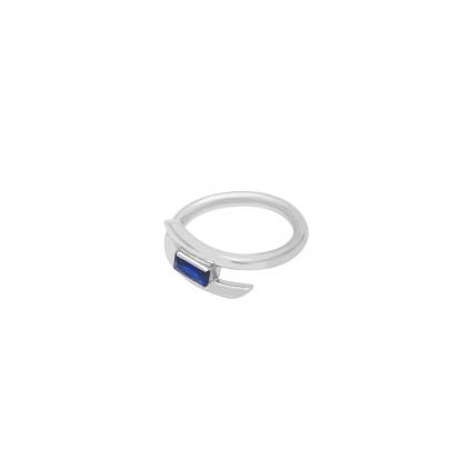 Кольцо серебряное Пружинка с Камнем Багет Youko