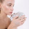 Кольцо серебряное Пружина с цирконами Youko