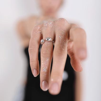 Кольцо серебряное Две Капли Youko