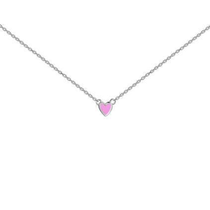 Подвеска серебряная Сердце Маленькое Youko эмаль розовая