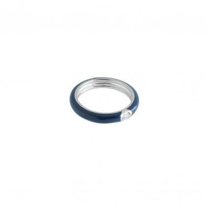 Кольцо серебряное Глаз Бури синяя эмаль Youko