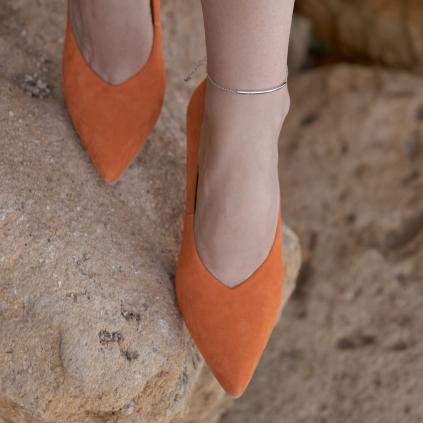 Браслет серебряный на ногу (анклет) Улыбка Youko