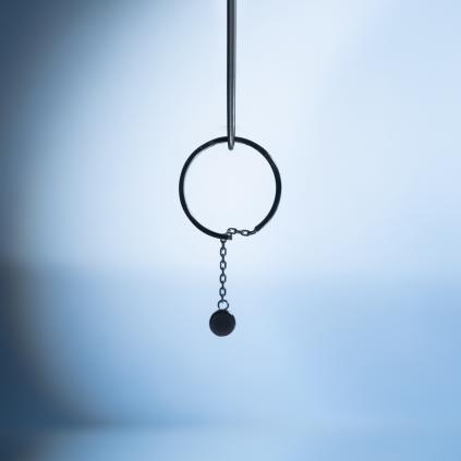 Кольцо серебряное с подвесом Монетка 5 мм Youko