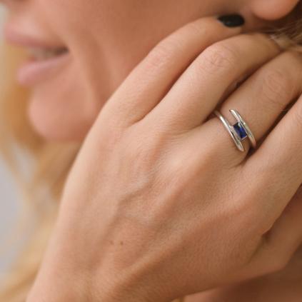 Кольцо серебряное Пружинка...