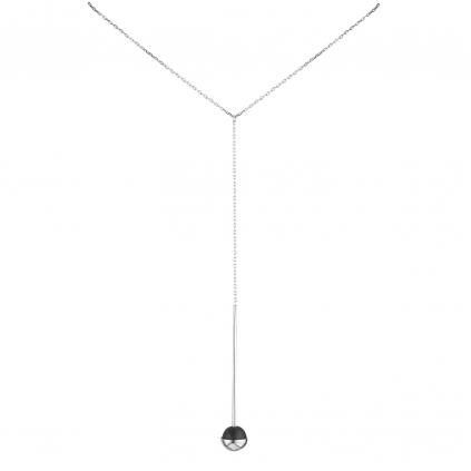 Подвеска серебряная Обсидиановый Желудь (сотуар) Youko