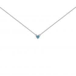 Подвеска серебряная Сердце Маленькое Youko эмаль голубая