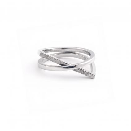 Кольцо серебряное Геометрия X Youko