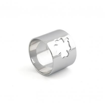 Кольцо серебряное Клевер широкое Youko