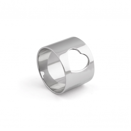 Кольцо серебряное Сердце широкое Youko