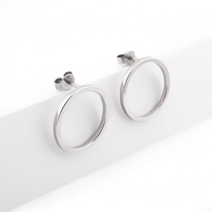 Серьги серебряные Геометрия Круг 18 мм Youko